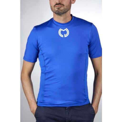 Camiseta Técnica Manga Corta Azul  [2]