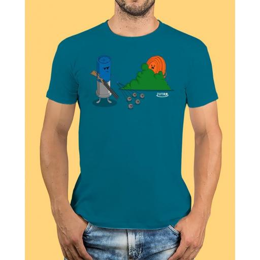 """Camiseta TUTIRO """"BUSCA"""" (Azul)"""