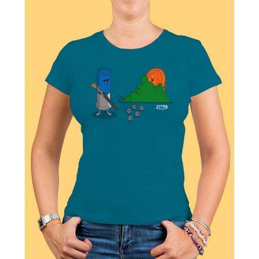 "Camiseta mujer TUTIRO ""BUSCA"" (Azul)"