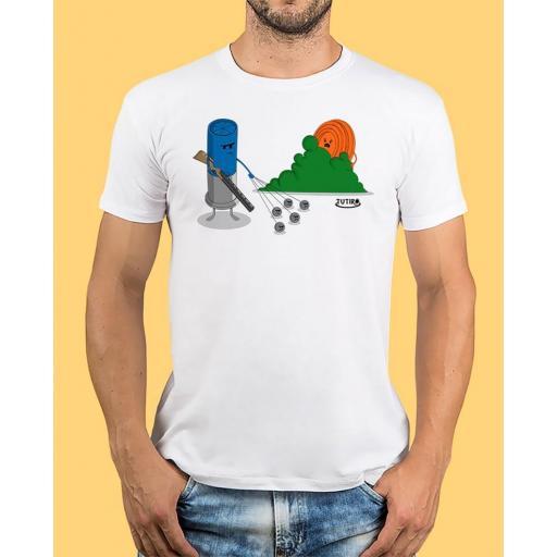 """Camiseta TUTIRO """"BUSCA"""" (Blanca)"""