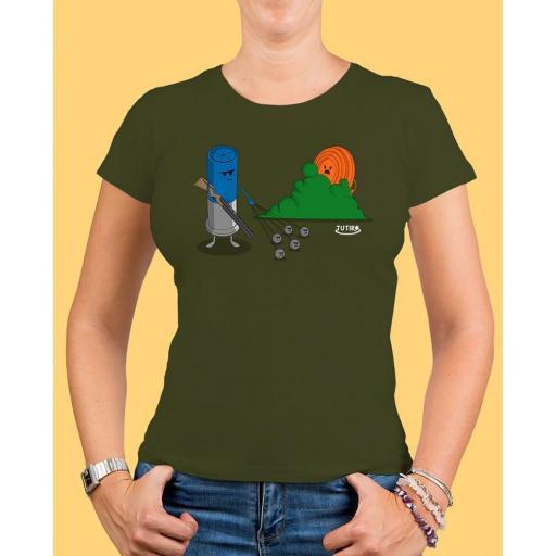 """Camiseta mujer TUTIRO """"BUSCA"""" (Verde)"""