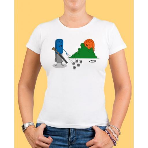 "Camiseta mujer TUTIRO ""BUSCA"" (Blanca)"