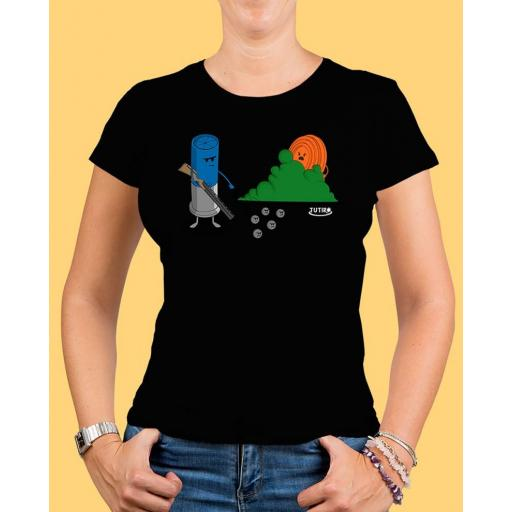 """Camiseta mujer TUTIRO """"BUSCA"""" (Negra)"""