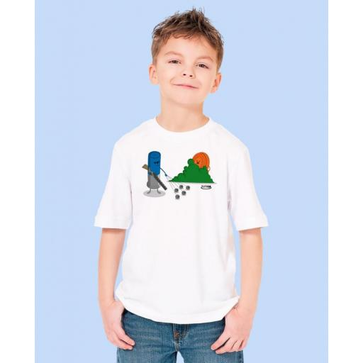 "Camiseta Niñ@ TUTIRO ""BUSCA"" (Blanca) [1]"
