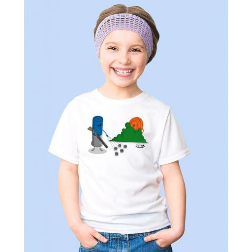 "Camiseta Niñ@ TUTIRO ""BUSCA"" (Blanca)"