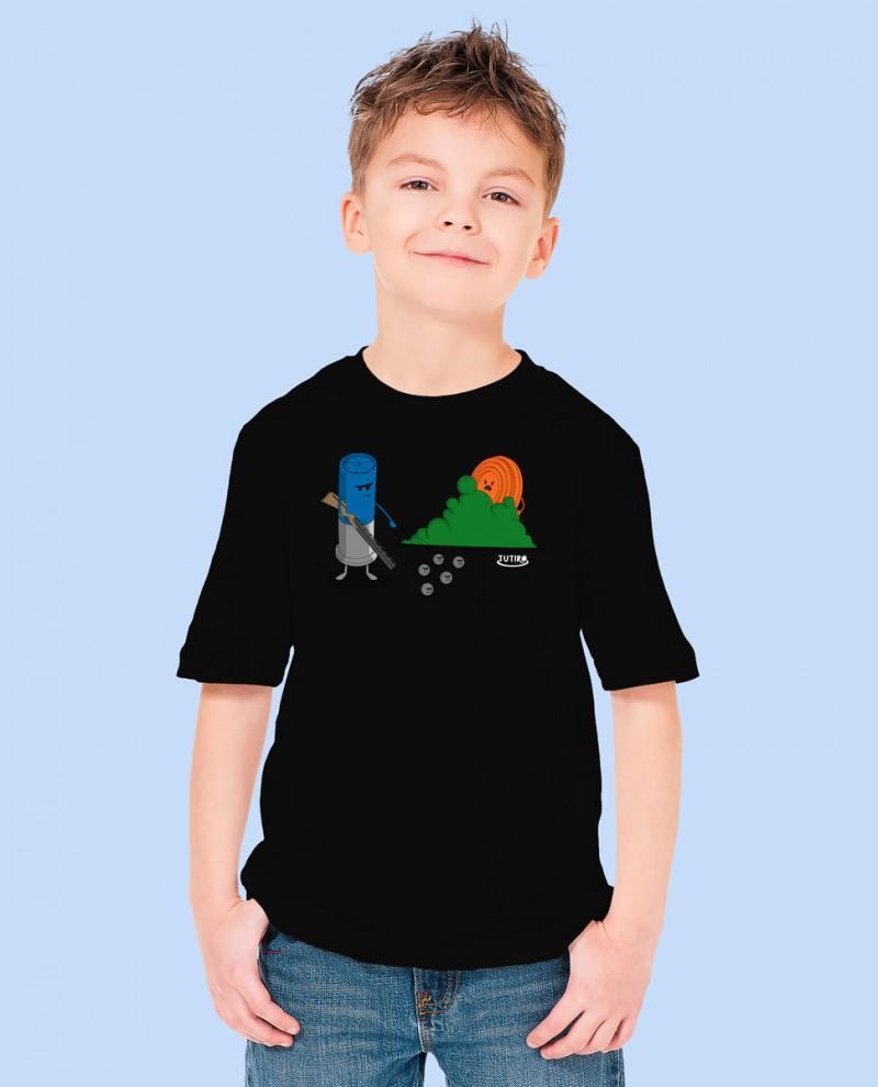 "Camiseta Niñ@ TUTIRO ""BUSCA"" (Negra)"