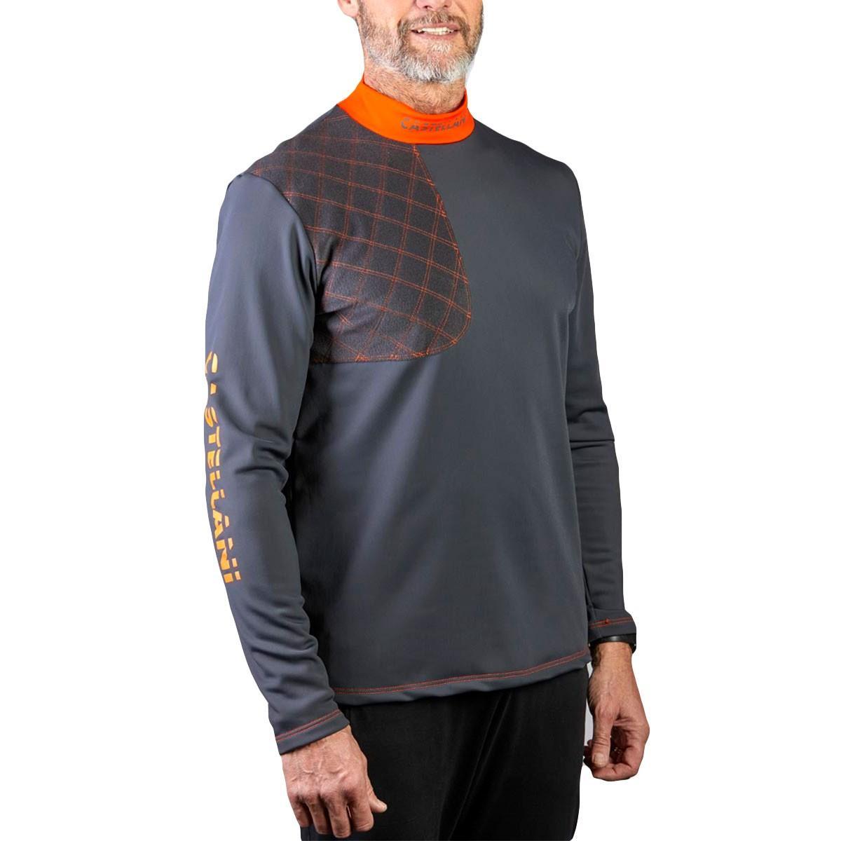 Camiseta Hidro Hombre Gris y Naranja