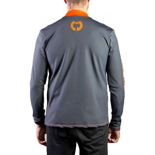 Camiseta Hidro Hombre Gris y Naranja [1]