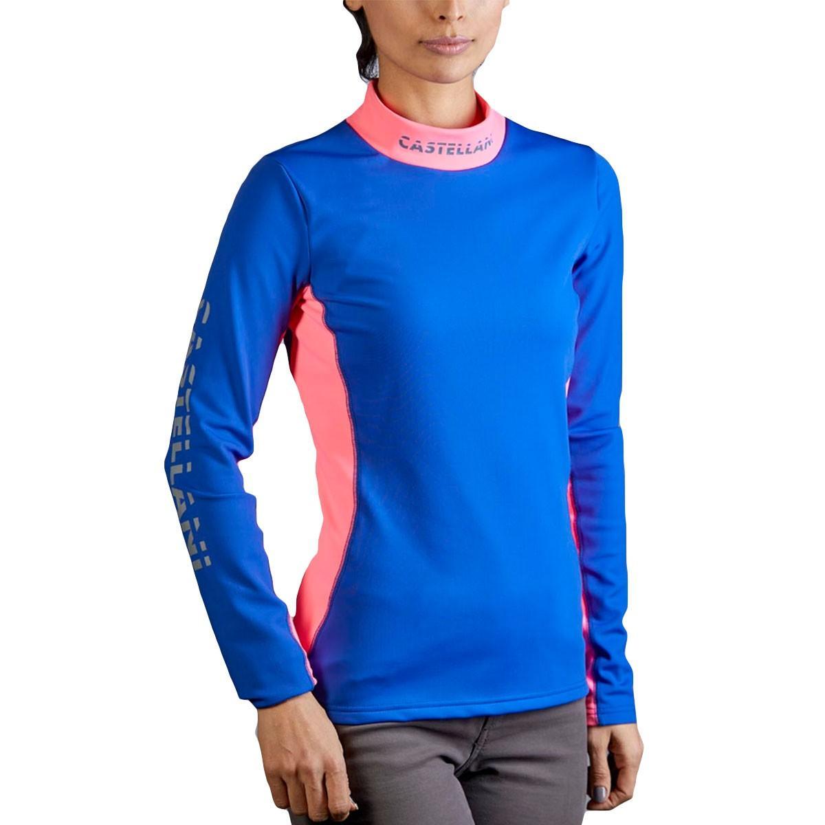 Camiseta Hidro Mujer Azul Cobalto y Rosa
