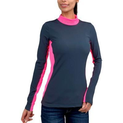 Camiseta Hidro Mujer Gris y Rosa