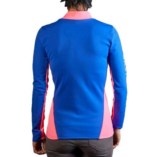 Camiseta Hidro Mujer Azul Cobalto y Rosa [1]