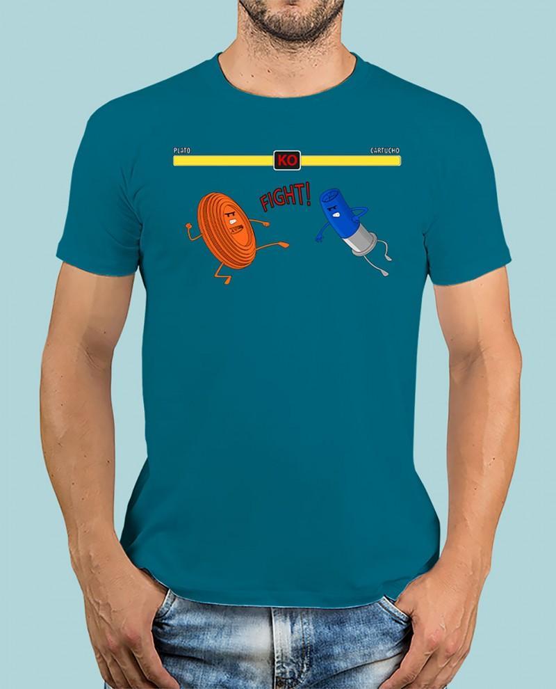 """Camiseta TUTIRO """"FIGHT"""" (Azul)"""