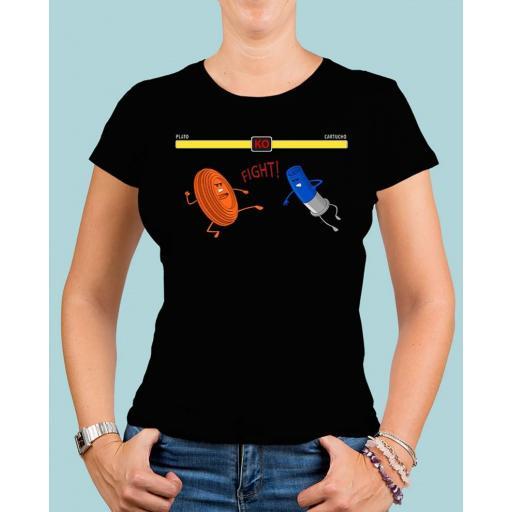 """Camiseta mujer TUTIRO """"FIGHT"""" (Negra)"""