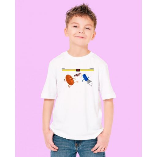 "Camiseta Niñ@ TUTIRO ""FIGHT"" (Blanca) [1]"