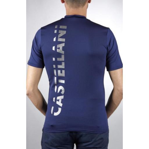 Camiseta Técnica Manga Corta Azul Marino [1]