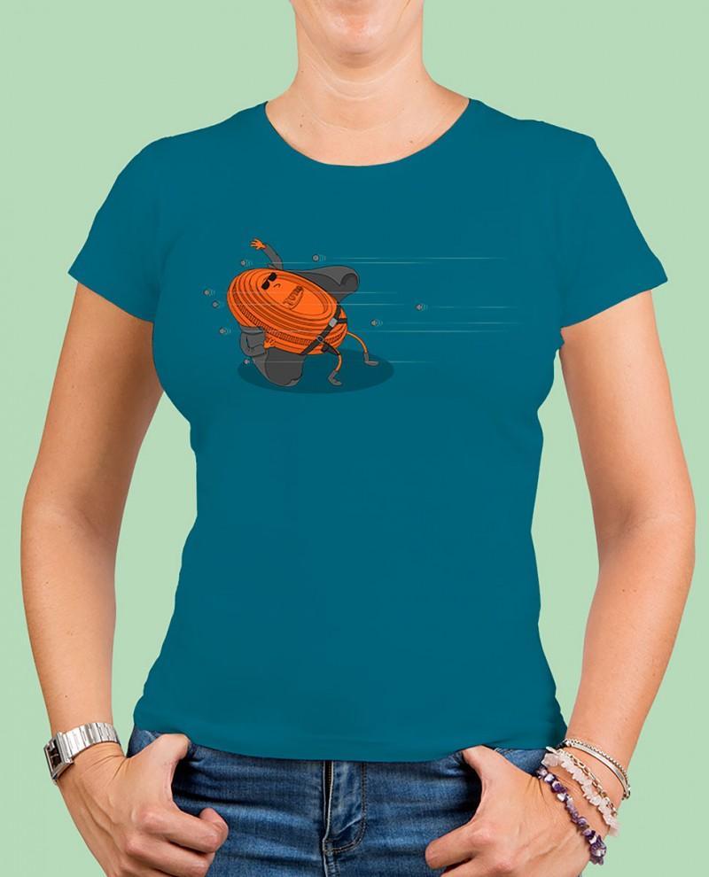 "Camiseta mujer TUTIRO ""MATRIX"" (Azul)"