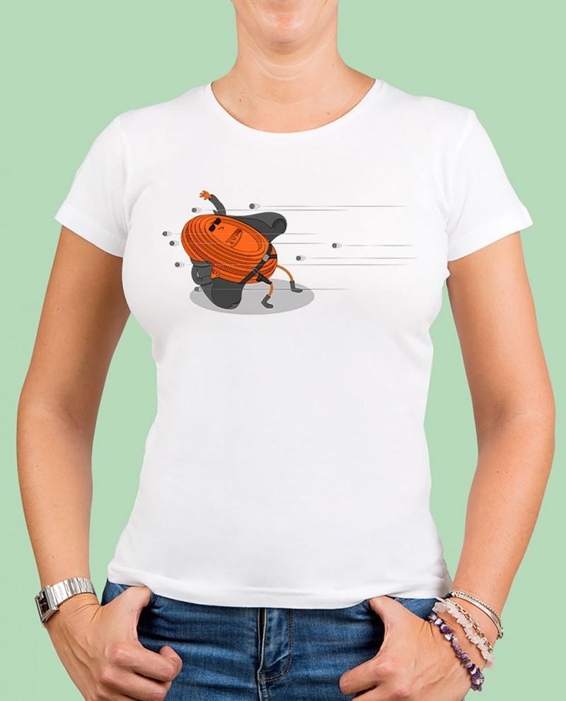 "Camiseta mujer TUTIRO ""MATRIX"" (Blanca)"