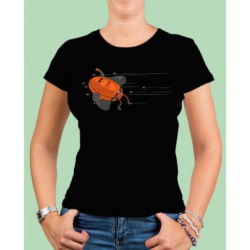 """Camiseta mujer TUTIRO """"MATRIX"""" (Negra)"""