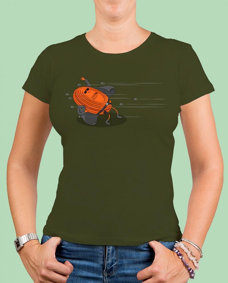 "Camiseta mujer TUTIRO ""MATRIX"" (Verde)"