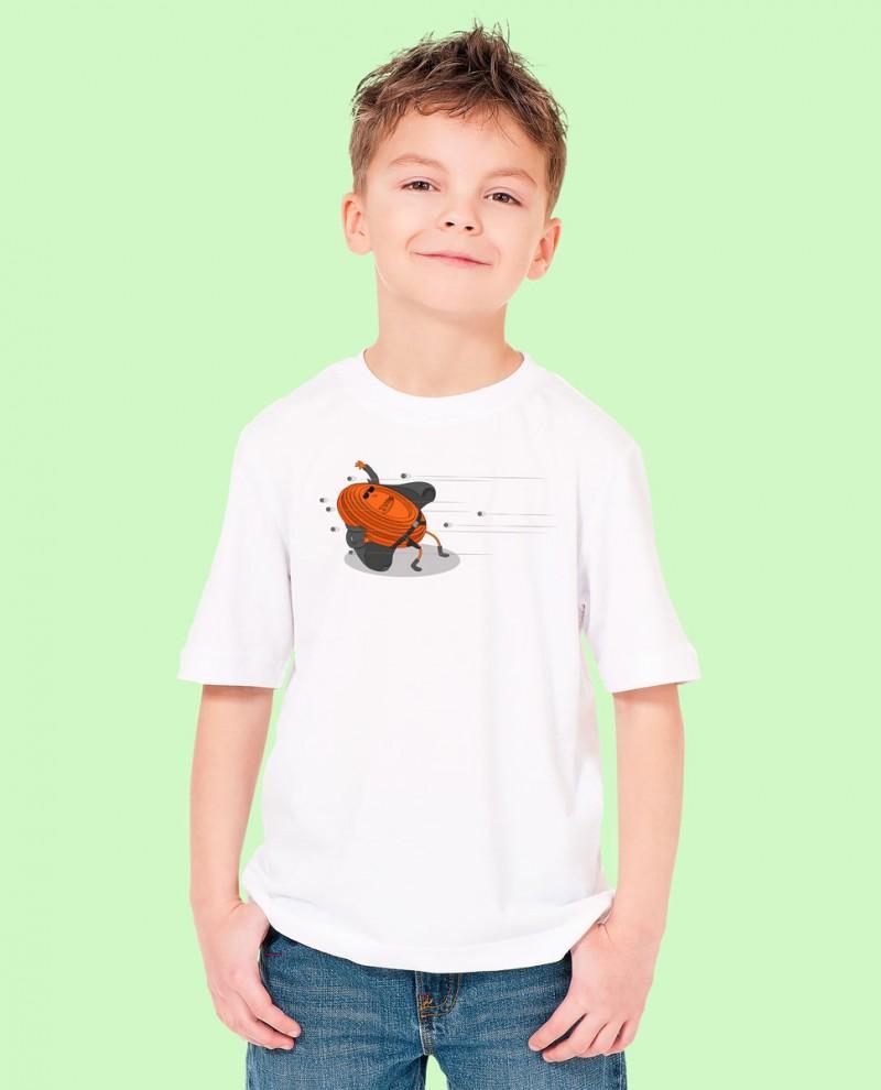 """Camiseta Niñ@ TUTIRO """"MATRIX"""" (Blanca)"""