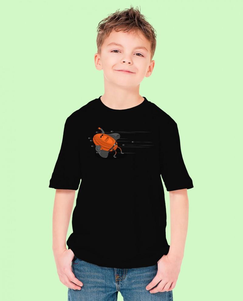 "Camiseta Niñ@ TUTIRO ""MATRIX"" (Negra)"