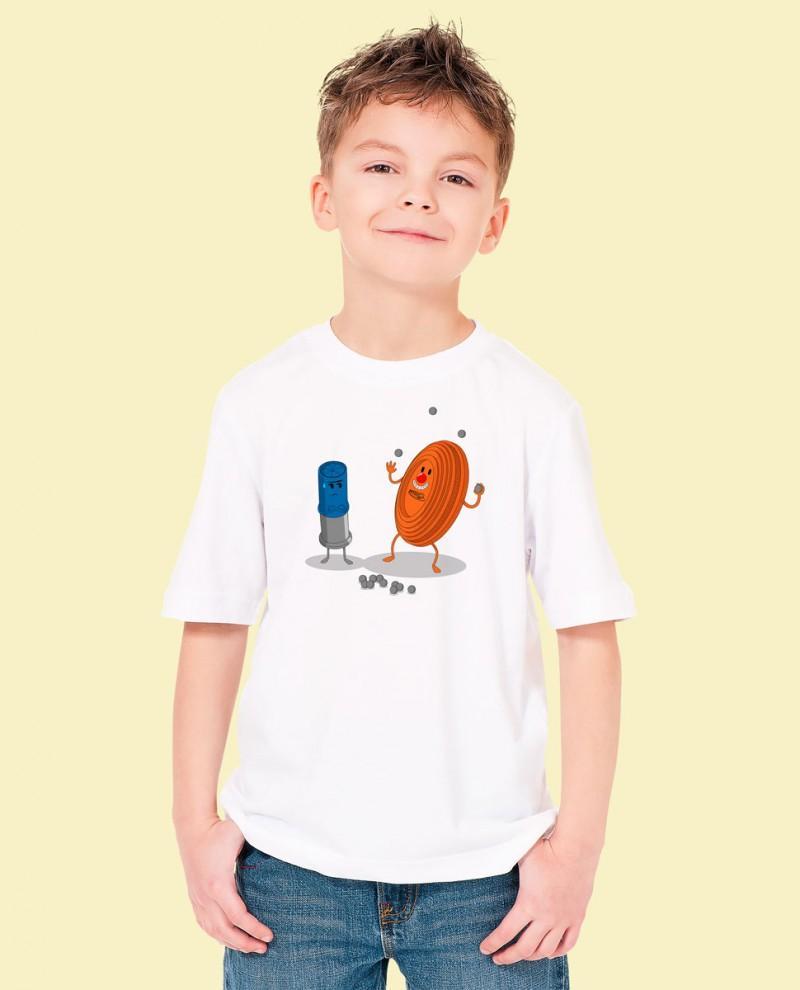 """Camiseta Niñ@ TUTIRO """"PAYASETE"""" (Blanca)"""