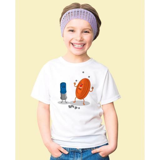 """Camiseta Niñ@ TUTIRO """"PAYASETE"""" (Blanca) [1]"""