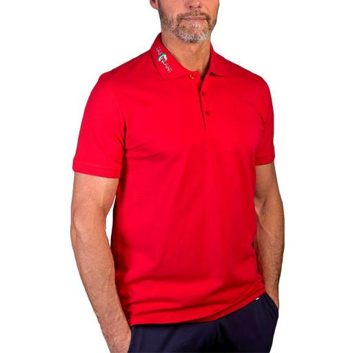 Polo manga corta (Rojo)