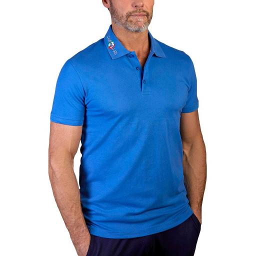 Polo manga corta (Azul)