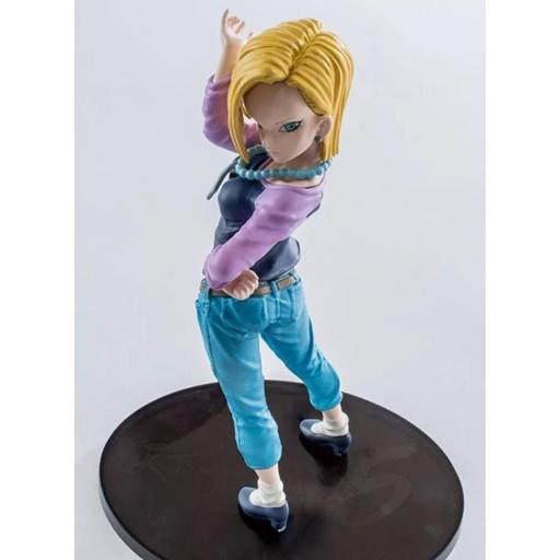 Estatua Banpresto SCultures Dragon Ball Super Android 18 BWFC 17 cm