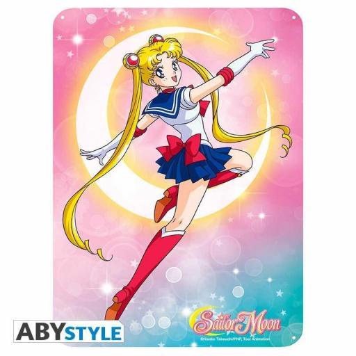 Placa Metálica Sailor Moon Luna