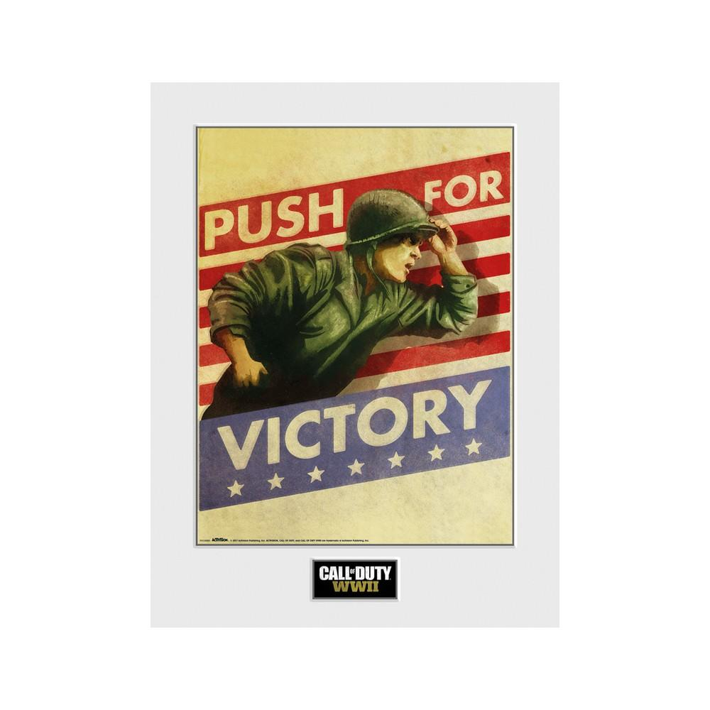 Art Print 30 x 40 Call of Duty WWII Push for Victory