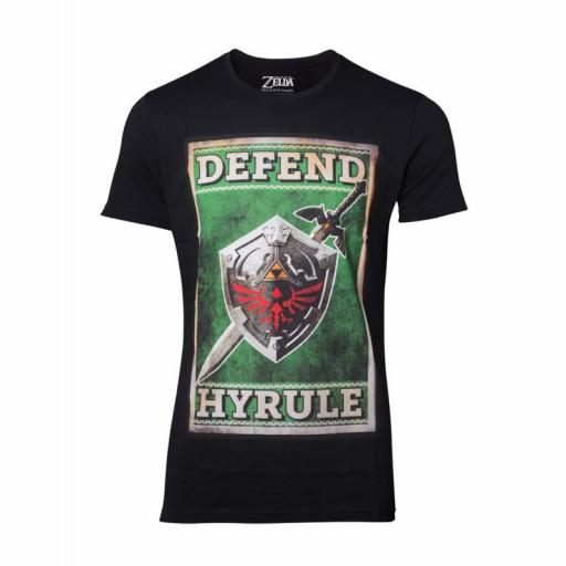 Camiseta The Legend Of Zelda Sword & Shield Hombre Adulto