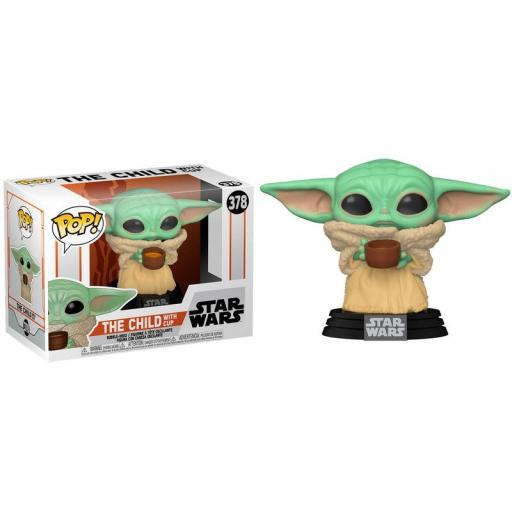 Figura Funko Pop! Star Wars The Mandalorian The Child with Cup