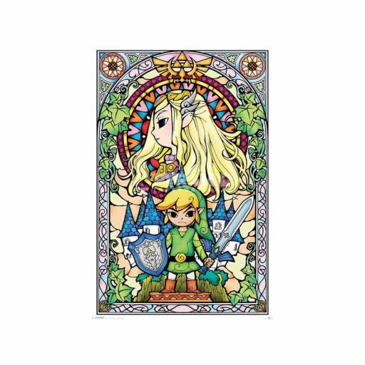 Poster  61 x 91 The Legend Of Zelda Stained Glass