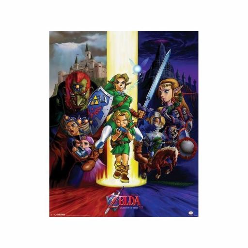 Poster The Legend Of Zelda Ocarina Of Time 40 x 50