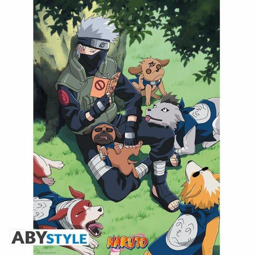 Poster Naruto Kakashi y sus perros 52 x 38 cm