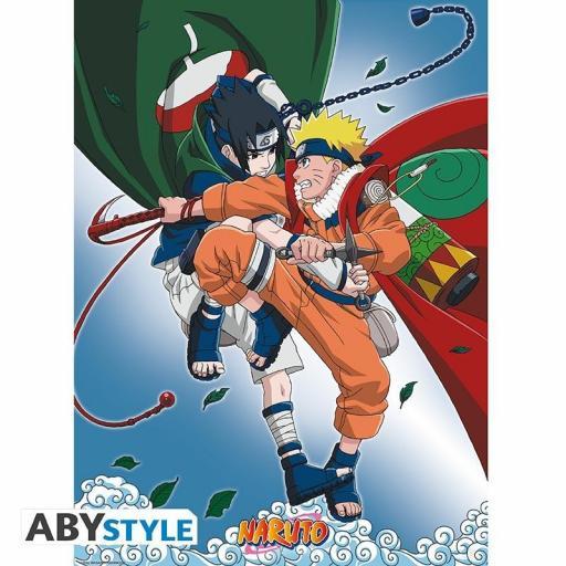 Poster Naruto Sasuke vs Naruto 52 x 38 cm