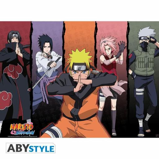 Poster 52 x 38 Naruto Shippuden Group 1