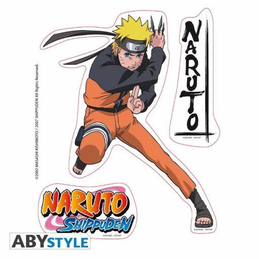 Pegatinas Naruto Shippuden Naruto y Jiraiya [2]