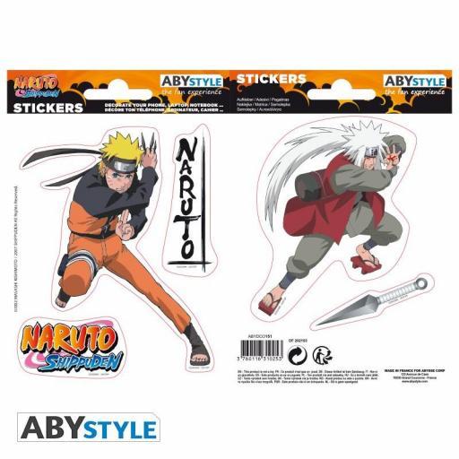 Pegatinas Naruto Shippuden Naruto y Jiraiya