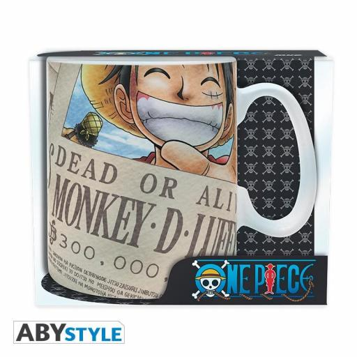 TAZA ONE PIECE LUFFY WANTED [2]