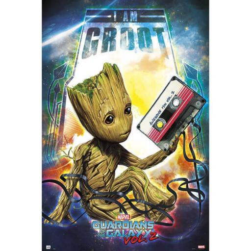 Poster 60 x 91 Guardianes de la Galaxia Vol 2 Groot