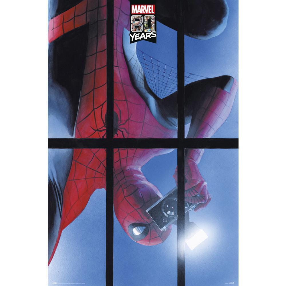 Poster Spiderman 80 Años 61 x 91