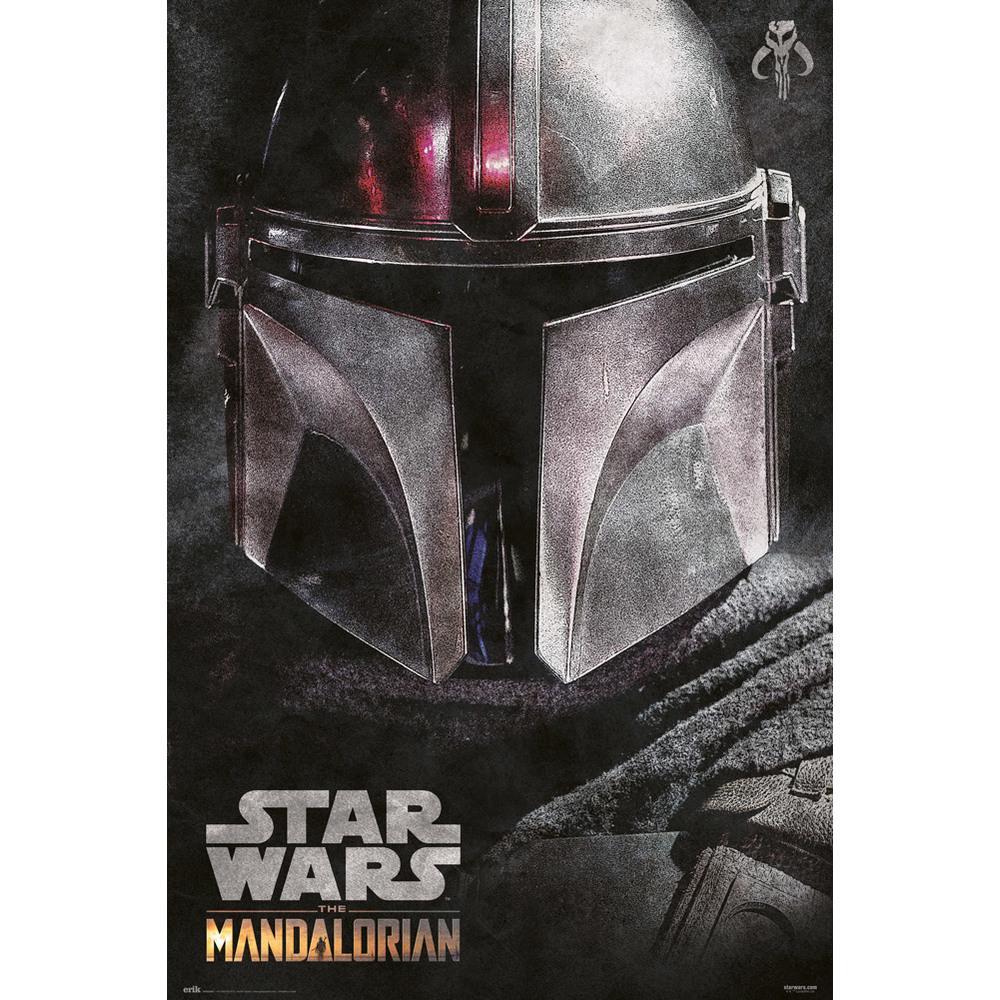 Poster Star Wars The Mandalorian Helmet 61 x 91
