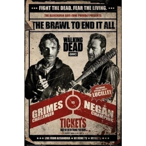 Poster The Walking Dead Fight 61 x 91