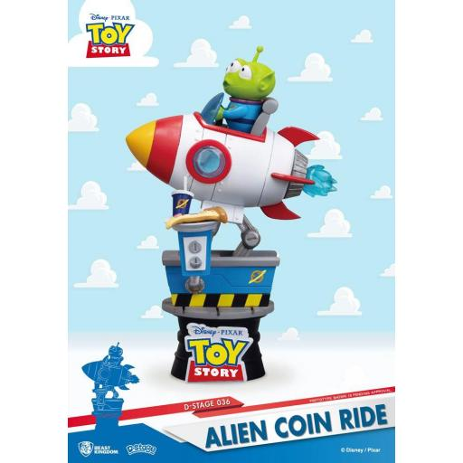 DIORAMA BEAST KINGDOM DISNEY TOY STORY ALIEN COIN RIDE