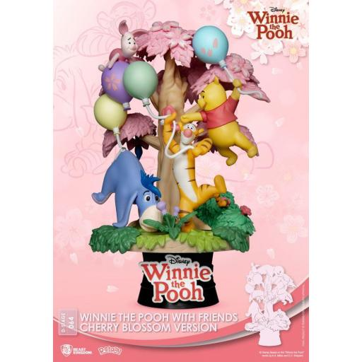 Diorama Beast Kingdom Disney Classic Animation Series D-Stage Winnie the Pooh Cherry Blossom Version 15 cm