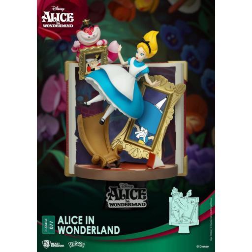 Diorama Beast Kingdom Disney D-Stage Story Book Series Alice in Wonderland 15 cm
