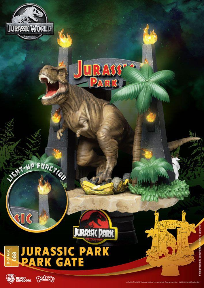 Diorama Beast Kingdom Jurassic Park D-Stage Park Gate 15 cm